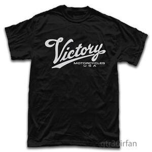 Victory Motorcycle Logo T-shirt Black