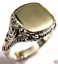 Kaedesigns New Genuine -SOLID STERLING SILVER SQUARE ENGRAVED SIGNET RING
