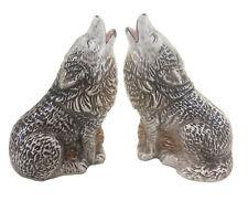 Wolf Ceramic Salt & pepper Shakers