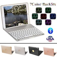 "For iPad Pro 9.7""  Air 2 Bluetooth Keyboard Folio Case Cover 7 Colors Backlit BP"