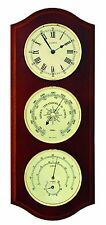 Fischer meteo interno d'attesa, barometri, termometri, HYGRO, Orologio, nussbaumfarb, 9178u-12