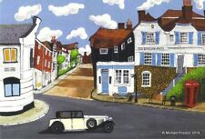 RYE MERMAID STREET 2010 EAST SUSSEX LIMITED EDITION PRINT BY MICHAEL PRESTON
