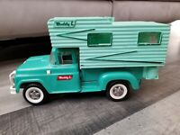 Vtg Tonka Buddy L Ford Stepside Pickup Camper Truck w/ Front Spring Suspension