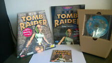 1996 Eidos Tomb Raider Pc-Cd Rom Video Game Complete in Trapezoid Big Box + Book
