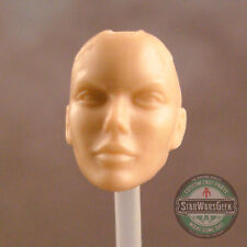 "ML179 Female no hair Custom Cast head sculpt use w/6"" Marvel Legends figure"