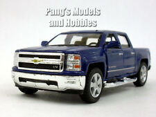 Chevy Silverado (2014) LTZ Crew Cab 4x4 1/46 Scale Diecast Metal Model - BLUE
