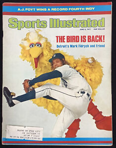 Mark Fidrych The Bird Sports Illustrated Mag June 6 1977 Detroit Tigers ROY