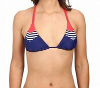 Body Glove NEW Blue Womens Size Large L Striped Bikini Top Swimwear $60 295
