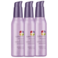 3 PACK! PUREOLOGY ANTI-FADE HYDRATE SHINE MAX SHINING HAIR SMOOTHER SERUM 4.2 OZ