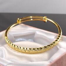 9ct 9k Yellow Gold Filled Girl Bangle 57mm Bracelet Xmas Birthday Gift  b353