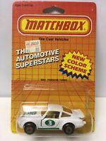 COMING OFF PACKAGE MATCHBOX MB3 PORSCHE 911 TURBO WHITE VTG 1:64 DIE-CAST Rare