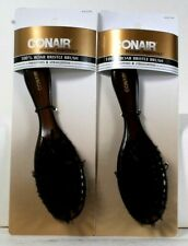 2 Count Conair Styling Essentials 95127N Smooth Straight 100% Boar Bristle Brush