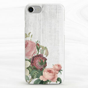 Vintage Floral White Wood Peony Case For iPhone 6S 7 8 Xs XR 11 Pro Plus Max