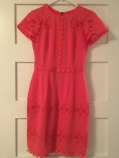 antonio melani coral cut out  short sleeve dress size 0