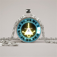 Drama Gravity Falls Mysteries BILL CIPHER WHEEL Steampunk Pendant Necklace