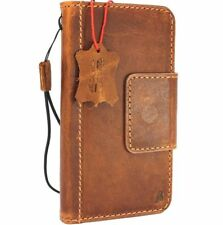 Genuine Tan leather case for Samsung Galaxy S9 Magnetic Card slots holder slim