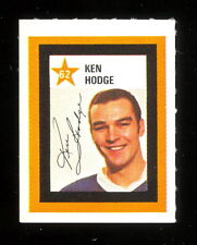 1970/71NHL COLGATE HOCKEY STAMPS UNUSED #62 KEN HODGE NM BOSTON BRUINS