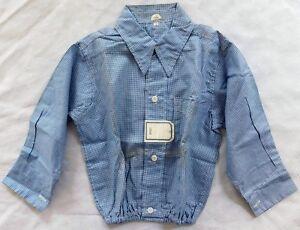 vtg 50s 60s 812 Kolesport wash and wear Gray Plaid Dress Shirt kids rockabilly 8