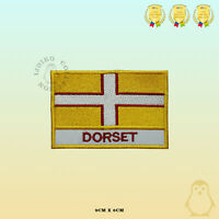 DORSET County Flag With Name Embroidered Iron On Sew On Patch Badge