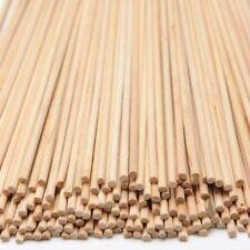Round Wooden Wood Craft Sticks Dowl Stems Pack of 100