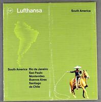LUFTHANSA SOUTH AMERICA AIRLINE BROCHURE 1963