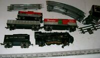 Vintage 1940s Complete ALL METAL O-27 Gauge Electric Steam Freight Train Set