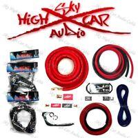 Sky High Car Audio Red 1/0 AWG to Dual 4 Gauge Complete Amp Kit Split Ga