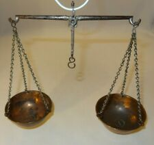 Antique Copper & Steel Balance Beam Traders Scales