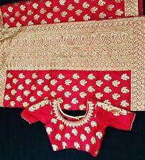 Banarasi Silk Saree With Zari Woven and Stone Work , Stitched Blouse Size 34.