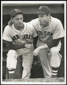 Joe & Dom Dimaggio 1946 World Series Boston Red Sox Type 1 Original Photo