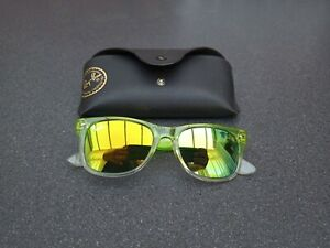 Raybans Mirrored Lime Sunglasses + Case