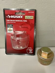 HUSKY 91216 Tub Drain Removal Tool 1-3/4 in. to 1-9/16 in Extractor Hardly used