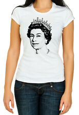 United Kingdom Queen II.Elizabeth White Women's 3/4 Short Sleeve T-Shirt K232