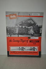 1962 Wells Manufacturing Bandsaw Wellsaw 400 Sawing Magic Catalog Jrw 065