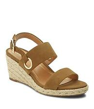1db262657fcb Vionic Women s Tulum Vero Leather Ankle-Strap Wedged Sandals Olive