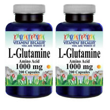 L-Glutamine Free Form Amino Acid 1000 mg 2X200 Caps by Vitamins Because