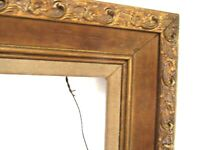 VINTAGE CARVED GILDED WOOD FRAME FOR PAINTING 14 x 11 INCH   ( d-16)