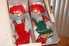 """Set of Jingles and Belle 11"""" Christmas Dolls by Marie Osmond"""
