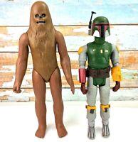 "Vintage Star Wars 1979 Boba Fett 14"" and 1978 Chewbacca 15"" Kenner GMFGI"