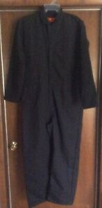 Red Kap Men's Workwear Coveralls CT10BK2 Black 46 Reg New W/out Tags