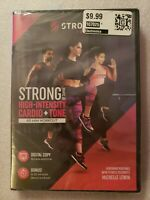 STRONG: HIGH-INTENSITY CARD STRONG: HIGH-INTENSITY CARDIO & TONE WORK DVD NEW