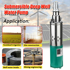 260W DC  Electric Solar Powered Water Pump 1.2m³/h Submersible Deep Farm Hole