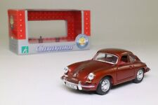 Cararama 1:43 Scale; Porsche 356B Coupe; Metallic Red; Excellent Boxed
