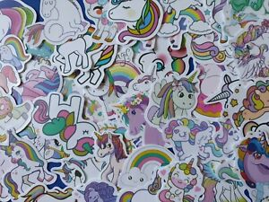 Unicorn Stickers 25 pack stick on Car, Luggage, Laptop, phone, tablet - Random