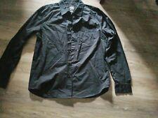 A|X Armani Exchange Mens XL/TG Black Button Down Long Sleeve Shirt