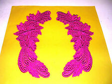 3 pc beautiful pink set venice  lace Applique collar fabric VC54