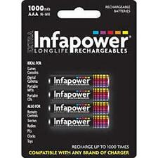 Infapower Recargable Aaa Ni-mh Multi Uso Baterías 1.2 v 1000mah 4 Pack New