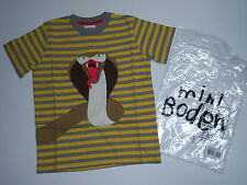 New Mini Boden 4/4T-5/5T Applique Danger King Cobra Stripe Tee Shirt
