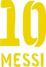 Messi 10 Flock Beflockung für FC Barcelona Trikot in allen Größen. S M L XL XXL