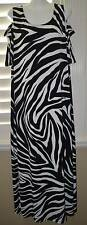 NWT Chico's Zebra Print Cold Shoulder Maxi Dress Size 3 (16/18) So Cute!!!